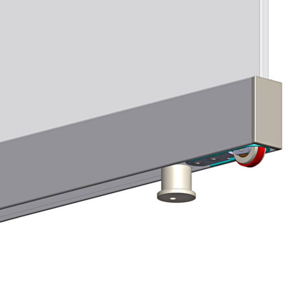 Space meccanismo invisibile brevettato per porte - Spazzole per porte scorrevoli ...
